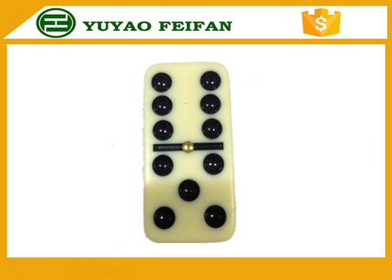 China 54 * 27 * 12mm Professional Double Six Domino Titles Family Classic Games Dominoes distributor