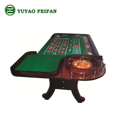 China Luxury Brown Wooden Texas Holdem Poker Table With 18'' / 32'' Wooden Wheel distributor