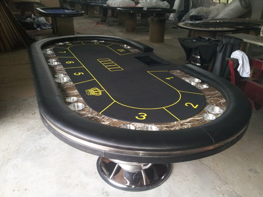 China Fold Away Poker Table Texas Holdem Poker Tables MDF / PU / Plastic 213 * 106 * 75cm factory