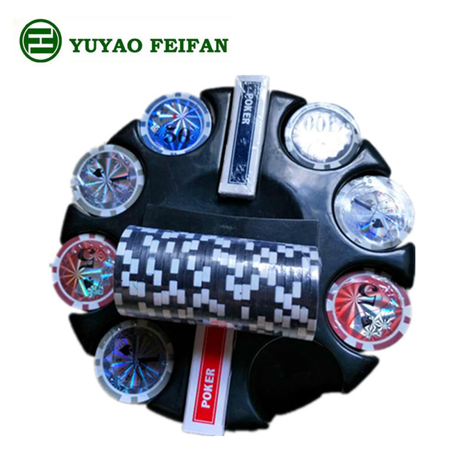 Round Corner 200 Pcs Beautiful Poker Chips Plastic / Clay / Ceramic Poker Chips Set
